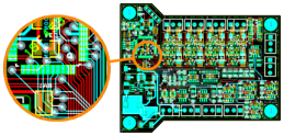 Part of a PCB layout