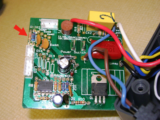 Circuit board view of the GBC laminator