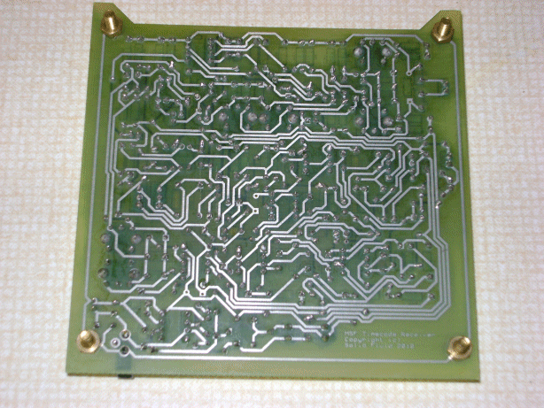 A picture of a PCB during manufacture