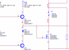 Part of an electrical schematic