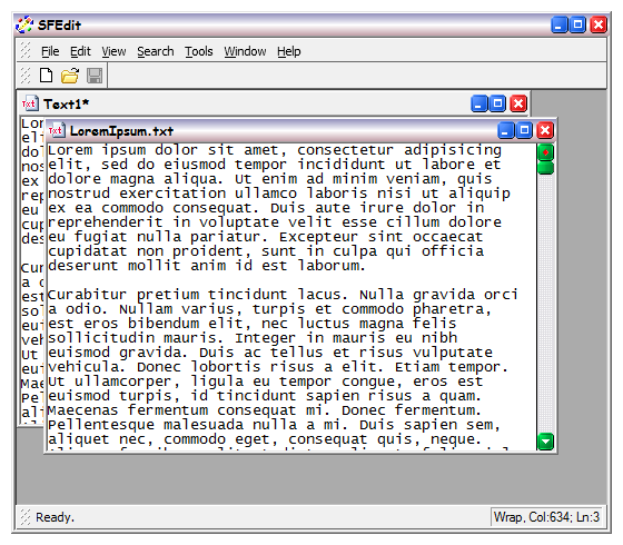 The old style multiple document interface