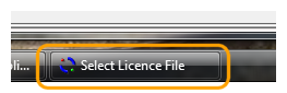 The licence selection taskbar item