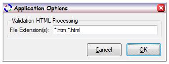 HTML validation options